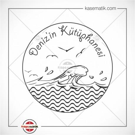 K 164 Dalgalı Deniz ve Martılar