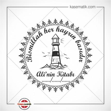 K 231 Deniz Feneri Martılar Kitap Mührü