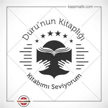 K 327 Kitap Okuru Kitap Damgası Tasarımı