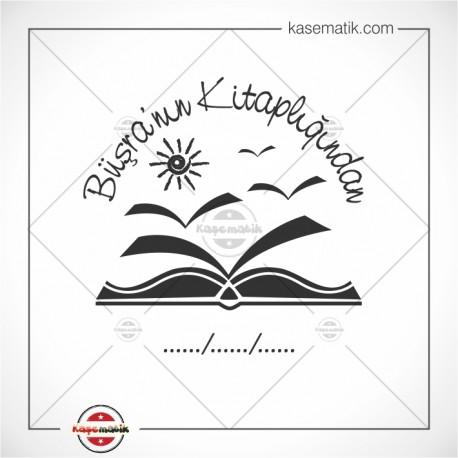 K 328 Gökyüzüne Uçan Kitaplar Mühür Tasarımı