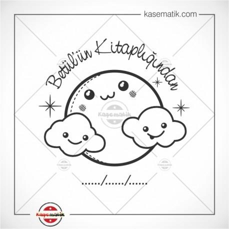 K 330 Mutlu Gökyüzü Kitap Damgası Tasarımı