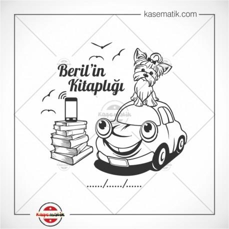 K 333 Sevimli Araba Sevimli Köpek Kitap Mührüı