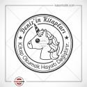 K 340 Unicorn Kitap Damgası Tasarımı