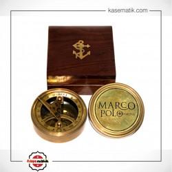 Ahşap Kutulu Marco Polo Pusula