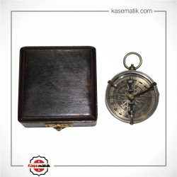 Ahşap Kutulu Pirinç Denizci Pusulası KSK236-11351