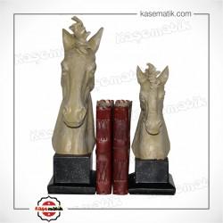Kitap Tutucu İkili At Kafası