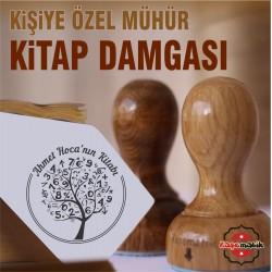 K 343 Kitap Ağacı Kitap Damgası