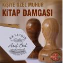 K 352 Akasya Yaprağı ex Libris Kitap Damgası