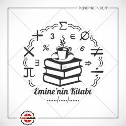 K 388 Kitap, Kahve ve Matematik sembolleri Temalı Damga