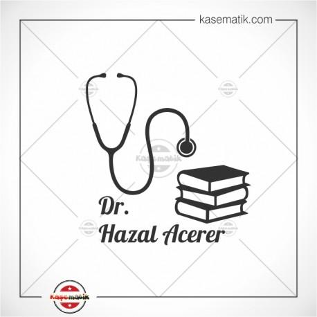 SA 16 Steteskop ve kitaplardan oluşan Doktor Mührü