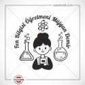 EG 37 Kadın Fen Bilgisi  Öğretmeni Tasarımlı Kitap Mührü
