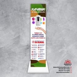 Sensörlü Dezenfekte Standı Tasarım 4