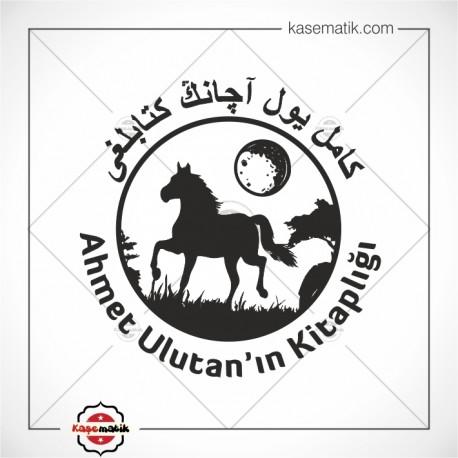 K 421 At ve Ay Tasarımlı Kitap Mührü