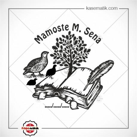 K 431 Keklik Kitap ve ağaç Mührü