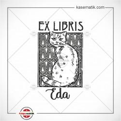 BK 29 Kedi Ex Libis Tasarımı