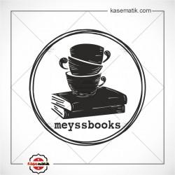 K 446 Kitapların Üzerinde Fincanlar Kitap Damgası