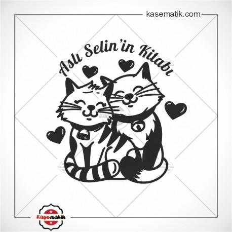 K 473 Sevimli Kediler Kitap Mührü