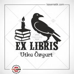 K 475 Kitap Mum Karga Ex Libris Kitap Mührü