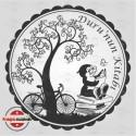 K 19 Baykuş Ağaç bisikletli Kitap Damgası