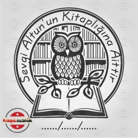K 25 Kütüphanedeki Baykuş Kitap Damgası