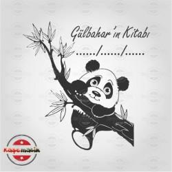 K 61 Ağaca Çıkan Panda Kitap Damgası