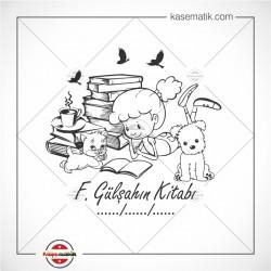 K 73 Kitap Okuyan Küçük Kız