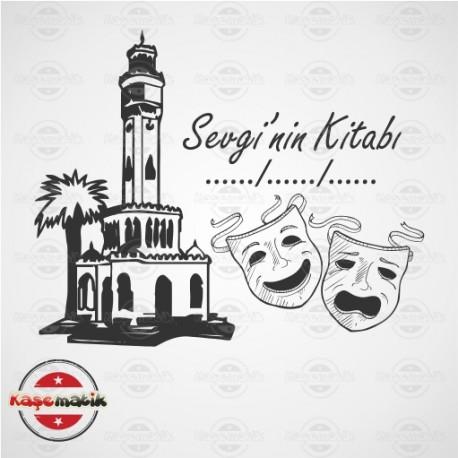 K 82 İzmir Saat Kulesi Kitap Damgası