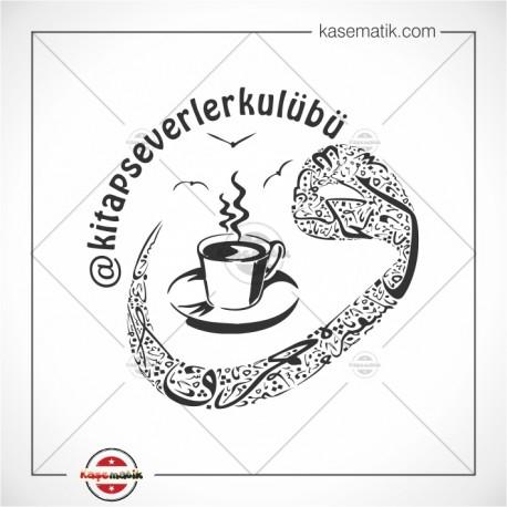 K 127 Vav Kahve Temalı Kitap Mührü